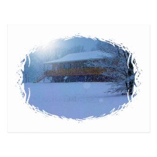 Winter Buildings Postcard