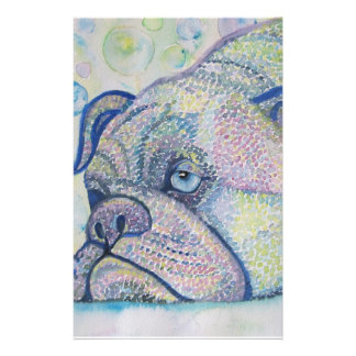 winter bulldog stationary stationery