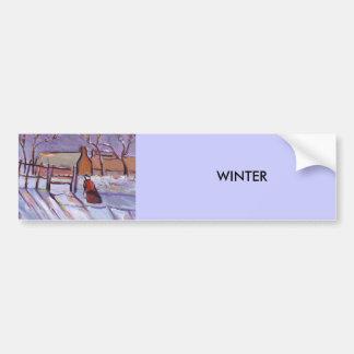 Winter Bumper Sticker