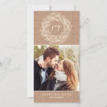 WINTER BURLAP | JOY | STYLISH HOLIDAY CARD