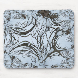 Winter Bushtree Abstract Mouse Pad