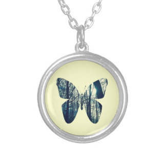 Winter Butterfly Necklace