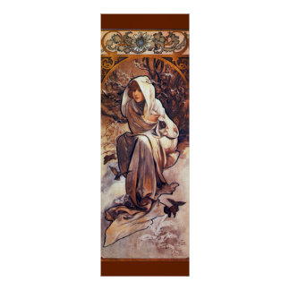 Winter by Alfons Mucha Poster
