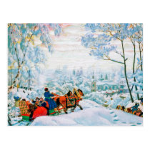 """Winter"" by Boris Kustodiev, Fine Art Postcards"