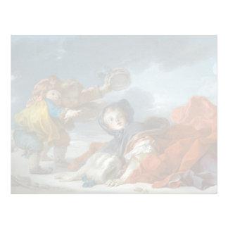 Winter by Jean-Honore Fragonard Letterhead