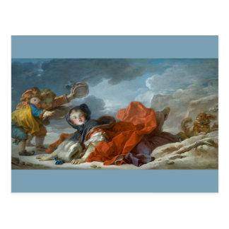 Winter by Jean-Honore Fragonard Postcard