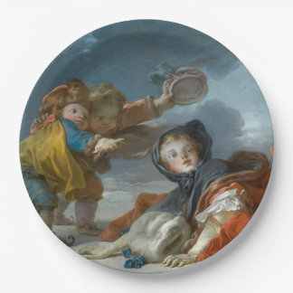 Winter by Jean-Honore Fragonard 9 Inch Paper Plate