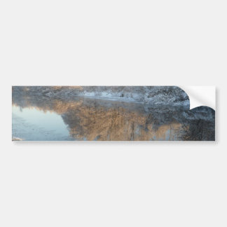 Winter by the River Bumper Sticker