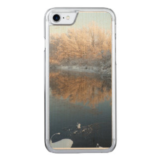 Winter by the River Carved iPhone 7 Case
