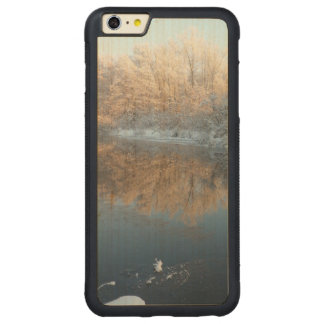 Winter by the River Carved Maple iPhone 6 Plus Bumper Case