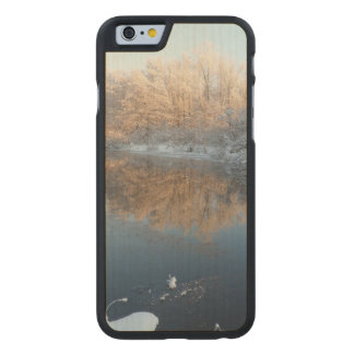 Winter by the River Carved Maple iPhone 6 Slim Case