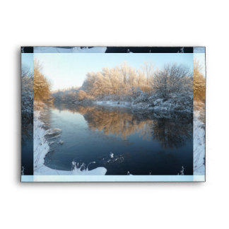 Winter by the River Envelope