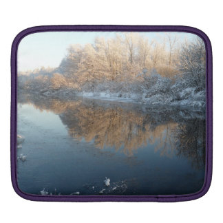 Winter by the River iPad Sleeve