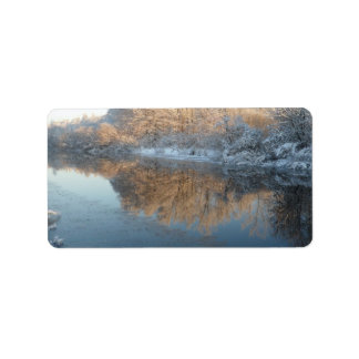 Winter by the River Label