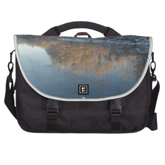 Winter by the River Laptop Bags