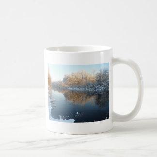 Winter by the River Coffee Mug