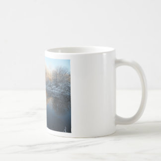 Winter by the River Coffee Mugs
