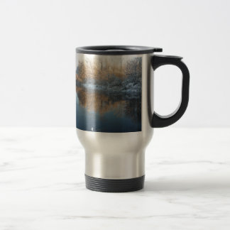 Winter by the River Mugs