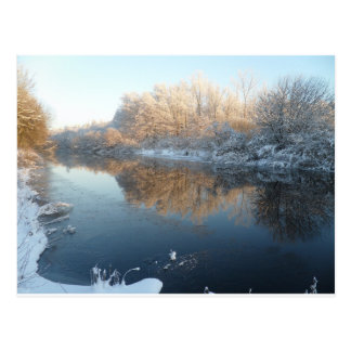 Winter by the River Postcard