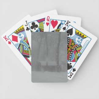 Winter Cabin Bicycle Playing Cards