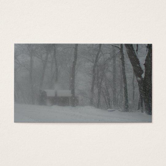 Winter Cabin Business Card