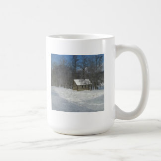 Winter Cabin Customizable Coffee Mug