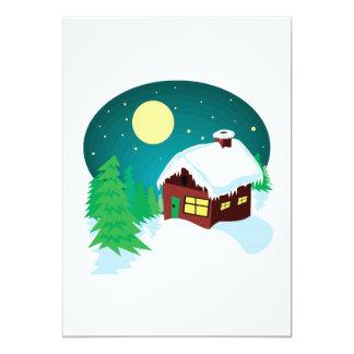 Winter Cabin Personalized Announcement