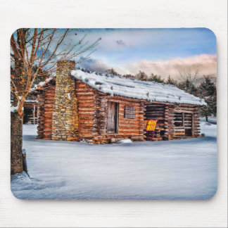 Winter Cabin Mouse Pad