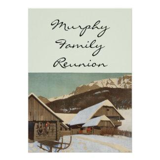 Winter Cabin Scene Personalized Invite