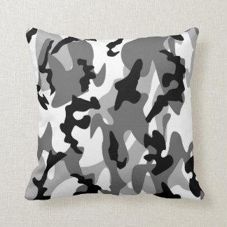 Winter Camo Throw Pillow