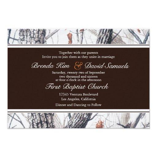 Winter Camo Wedding Invitation
