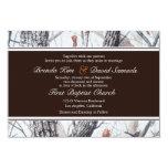 """Winter Camo Wedding Invitation 3.5"""" X 5"""" Invitation Card"""