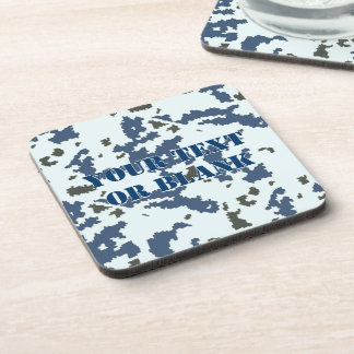 Winter Camouflage Beverage Coaster