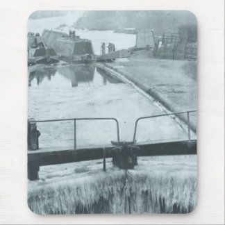 Winter canal mousepad