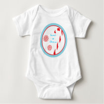 Winter Candy Cane First Christmas Baby T-Shirt
