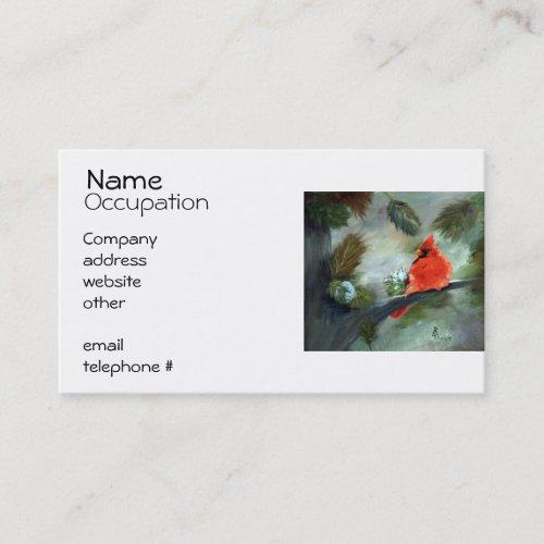 Winter Cardinal Business Card