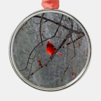 Winter Cardinal Christmas Tree Ornament