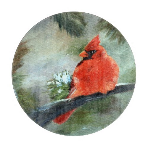 Winter Cardinal Cutting Board
