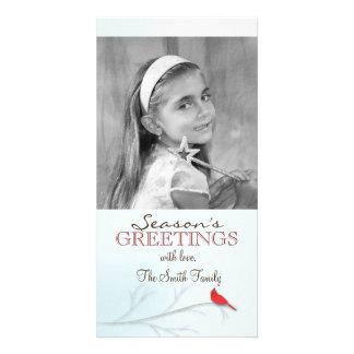 Winter Cardinal Editable Photo Card