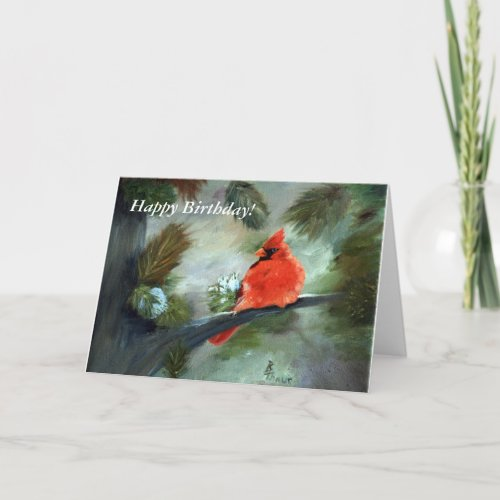 Winter Cardinal Holiday Card
