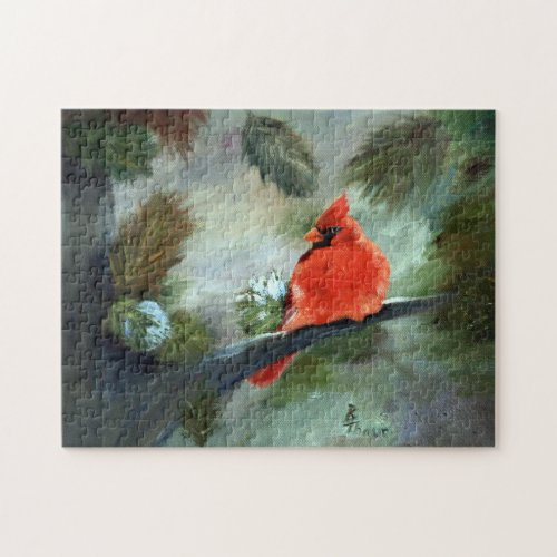 Winter Cardinal Jigsaw Puzzle