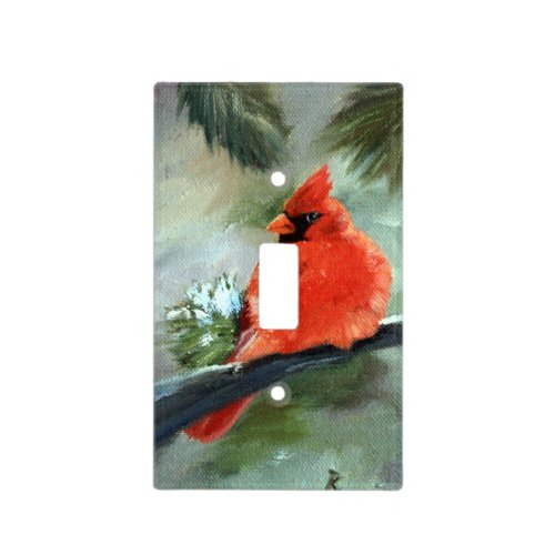 Winter Cardinal Light Switch Cover