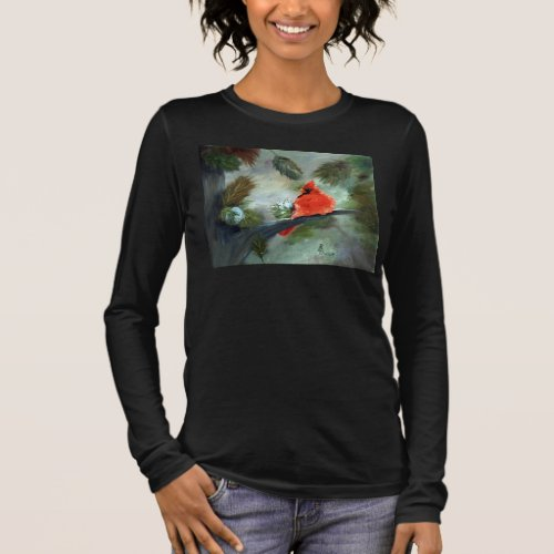 Winter Cardinal Long Sleeve T-Shirt
