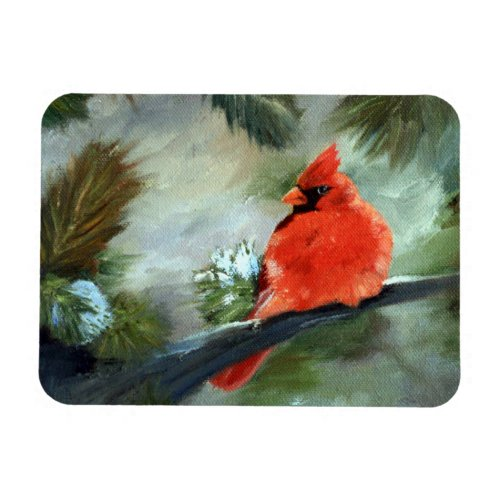 Winter Cardinal Magnet