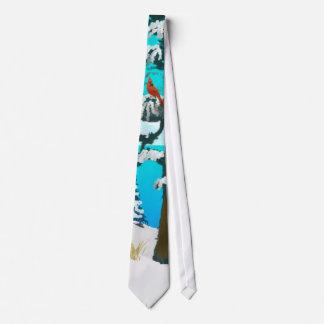 Winter Cardinal Neck Tie