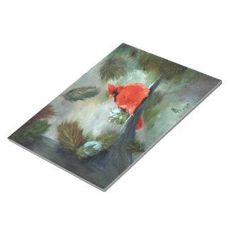 Winter Cardinal Notepad