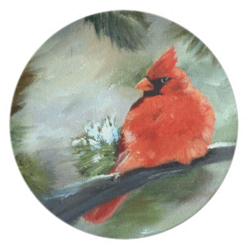 Winter Cardinal Plate
