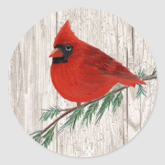 Winter Cardinal Sticker