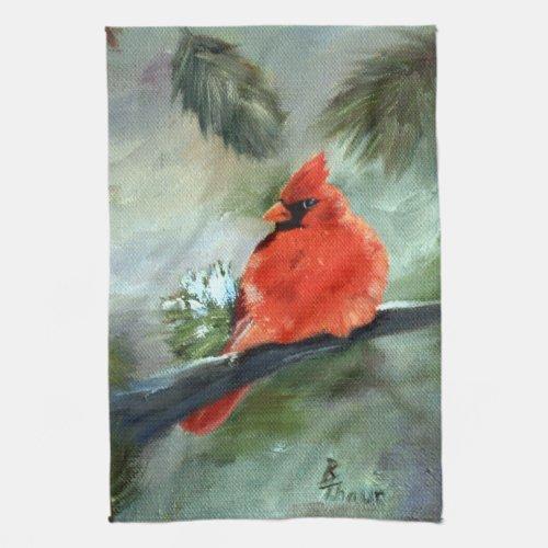 Winter Cardinal Towel