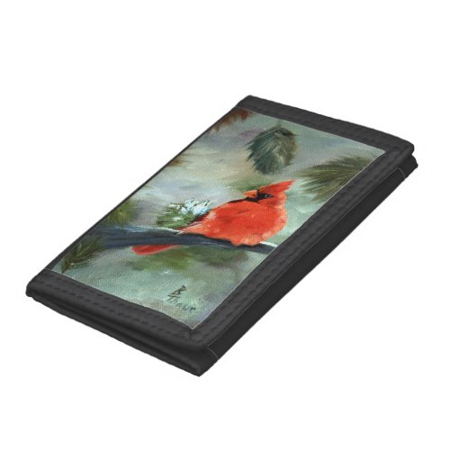 Winter Cardinal Tri-fold Wallet